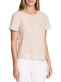 Vince Camuto Summer Linen Striped Top CANYON SUNSE