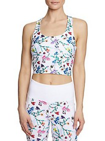 Betsey Johnson Floral-Print Cropped Tank Top FLORA