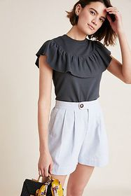 Anthropologie Daytona Ruffled Top