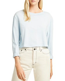 FRENCH CONNECTION - Zinia Cropped Long-Sleeve Jers