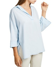 FRENCH CONNECTION - Julienne Cotton V-Neck Shirt