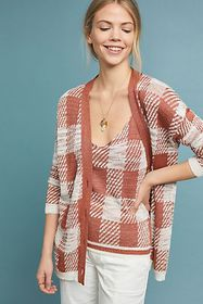 Anthropologie Checked Sweater Tank