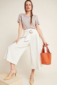 Anthropologie Palm Beach Belted Pants
