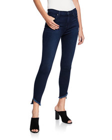 7 For All Mankind Gwenevere Angle Frayed Cropped J