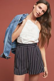 Anthropologie Pinstriped Shorts