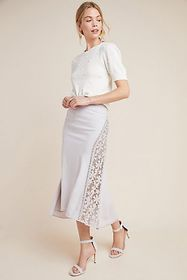 Anthropologie Byron Lars Floral Midi Skirt
