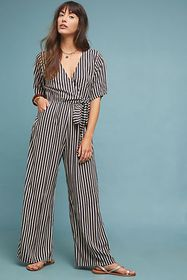 Anthropologie Lillia Striped Jumpsuit