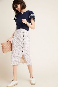 Anthropologie Lemon Pencil Skirt