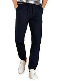 Brooks Brothers Red Fleece Drawstring Joggers NAVY
