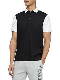 Calvin Klein Contrast Cotton Polo BLACK