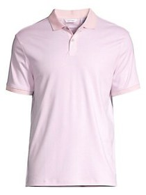 Calvin Klein Feeder Stripe Polo PLUSH PINK