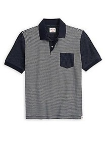 Brooks Brothers Red Fleece Dotted Jacquard Polo NA