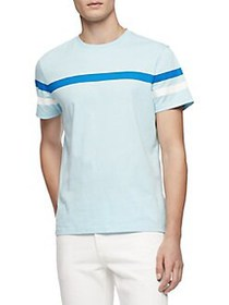 Calvin Klein Short-Sleeve Cotton Tee BRIGHT ICE