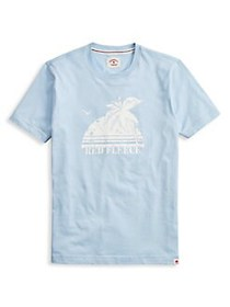 Brooks Brothers Red Fleece Printed Cotton Tee BLUE