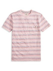 Brooks Brothers Red Fleece Striped Cotton Jersey P