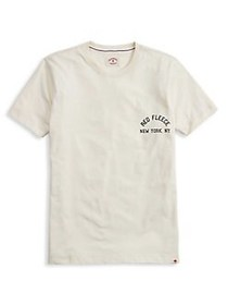 Brooks Brothers Red Fleece Printed Cotton Tee OFF