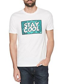 Original Penguin Graphic Cotton Tee BRIGHT WHITE