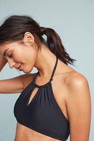 Anthropologie Anthropologie High-Neck Halter Bikin