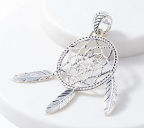 JAI Sterling Silver Feather Dream Catcher Enhancer