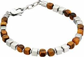 Fossil Tiger Eye Beaded Bracelet