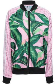 ADIDAS ORIGINALS Printed satin track jacket