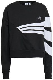 ADIDAS ORIGINALS Two-tone cotton-blend fleece swea
