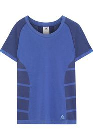 ADIDAS Paneled stretch-knit T-shirt