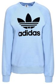 ADIDAS ORIGINALS Flocked French cotton-terry sweat