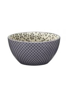 Pfaltzgraff Gray Geometric Soup Cereal Bowl