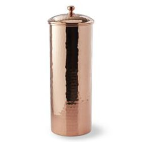 Hammered Copper Canister, Extra Tall