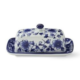 Blue & White Butter Dish