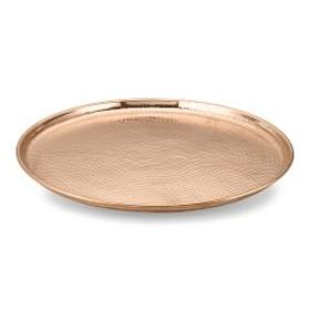 Hammered Copper Countertop Lazy Susan, Large