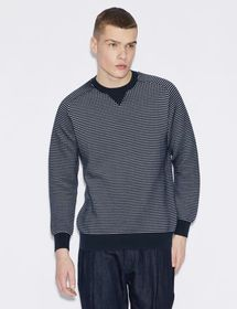Armani PULLOVER WITH TWO-COLOUR PATTERN