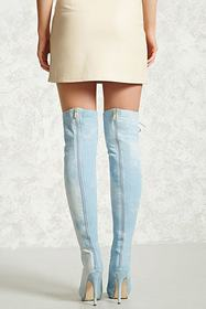 Forever21 Denim Over-the-Knee Boots