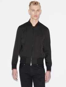 Armani BOMBER JACKET WITH CONTRASTING EDGES AND DE