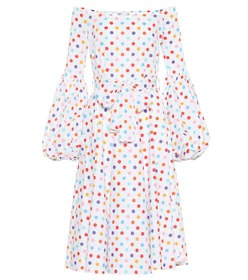 Caroline Constas Gisele polka-dot poplin dress