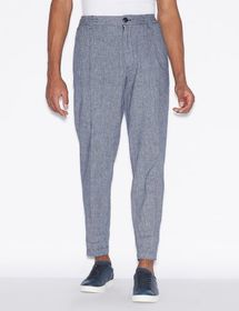 Armani TROUSERS IN MIXED LINEN