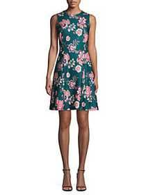 Vince Camuto Floral Sleeveless Fit-&-Flare Dress G