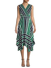 Karl Lagerfeld Paris Striped Midi Handkerchief Dre