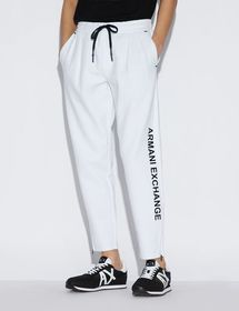 Armani SPORTY TROUSERS WITH CONTRASTING LETTERING