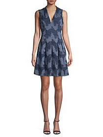 Vince Camuto Floral Fit-&-Flare Dress NAVY