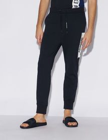Armani TROUSERS WITH CONTRAST LETTERING