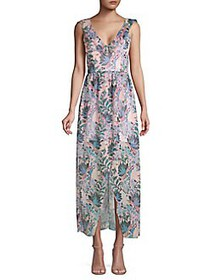 Guess Floral Ruffled High-Low Dress BLUSH MULTI