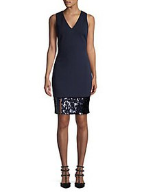 Vince Camuto Sequin Sheath Dress NAVY
