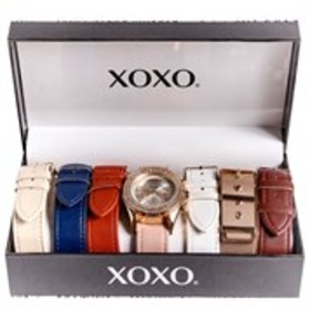 XOXO Womens Crystal Bezel 7-Piece Watch Set