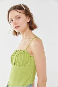 UO August Smocked Ruched Cami