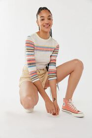 Out From Under Stella Striped Burnout Tee
