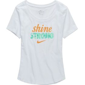 Nike Sportswear Shine Strong Scoop T-Shirt - Girls