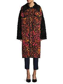 M Missoni Animal-Print Wool Blend Coat ROSA