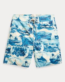 Ralph Lauren Cotton-Blend Graphic Short